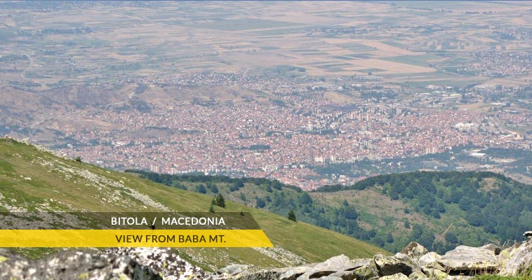 Bitola seen from Pelister National Park