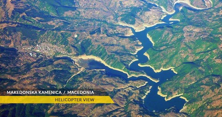Makedonska Kamenica with Kalimanci lake