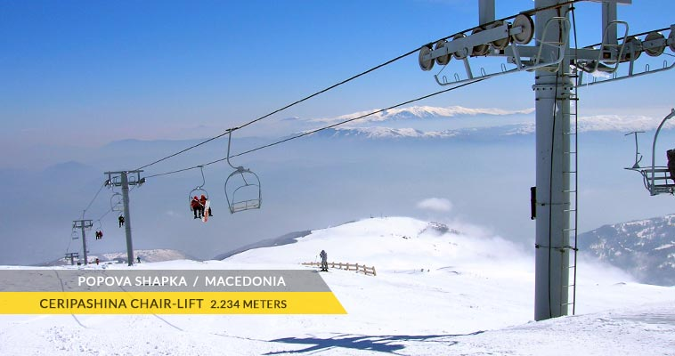 Popova Shapka: Ceripashina chair-lift (2.234 meters)