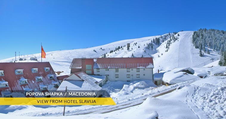 Popova Shapka: view from Hotel Slavija