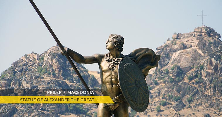 Prilep: statue of Alexander the Great