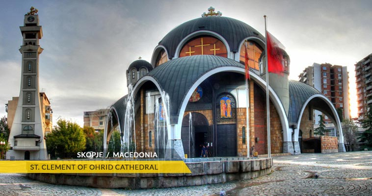 Skopje: Saint Clement of Ohrid - cathedral church