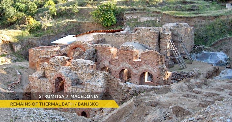 Banjsko spa: remains of a roman thermal spa