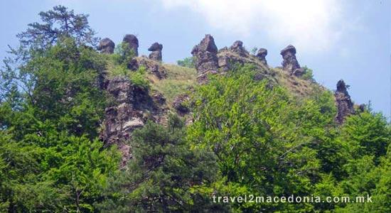 Stone columns of Konopiste