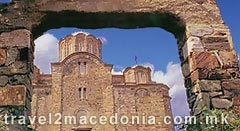 Location map matejce monastery