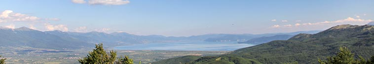 Prespa lake - view from Galichitsa mountain